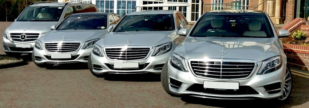 A picture of Mercedes S Class executive cars at Carden Park Hotel
