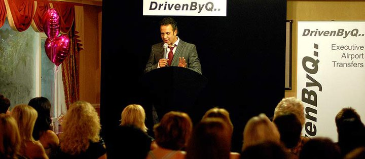 Picture of Jimi at the DrivenByQ Business Week Event