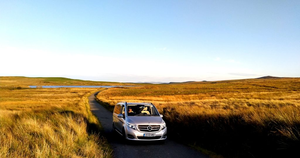 Picture of Mercedes V Class on Denbigh Moors celebrating fifteen years of success