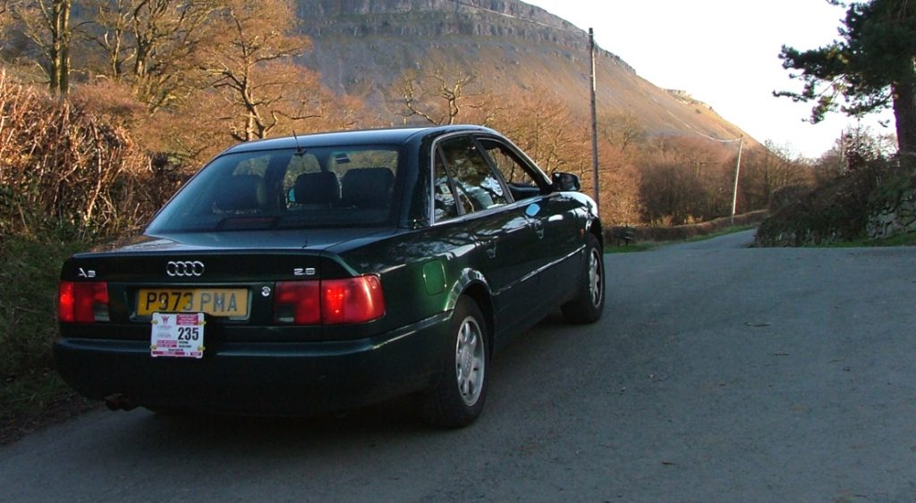 A picture of my first executive car, the original Audi A6