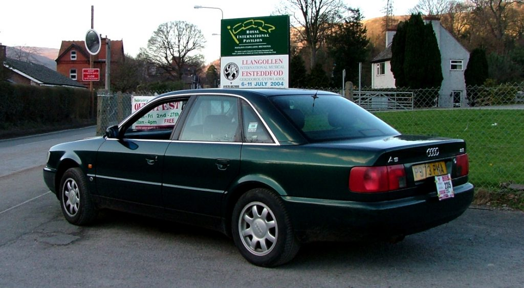 Picture showing an Audi A6 executive car at the Llangollen Eisteddfod in 2004