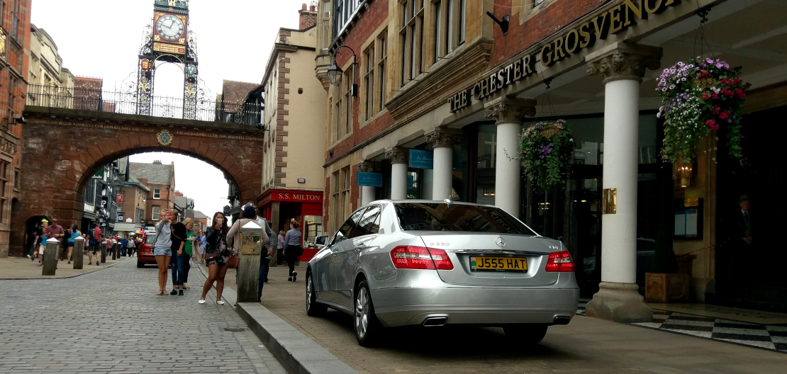 Mercedes E Class at the Chester Grosvenor Hotel