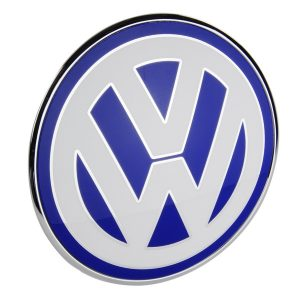 The VW Volkswagen badge