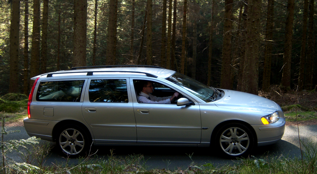 V70 in the woods