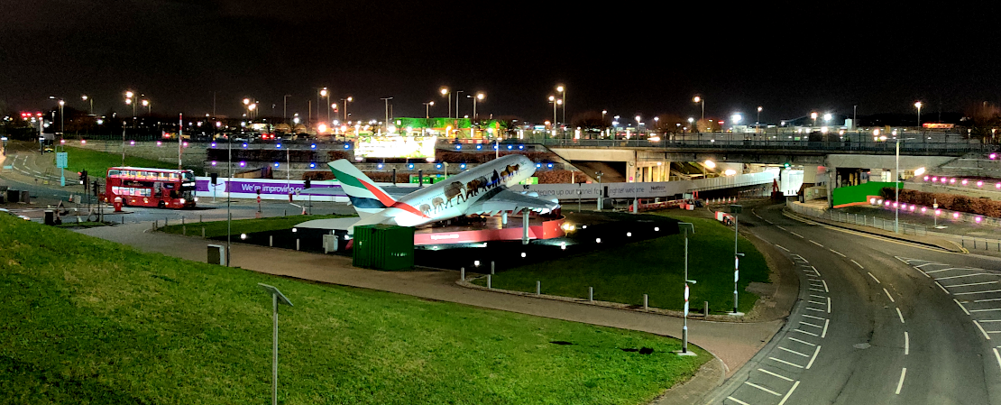 Picture of the iconic A380 at London Heathrow