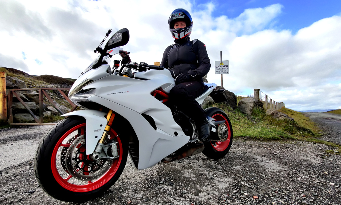 Picture of Maja from Maja's Motorcycle Adventures with her motorcycle