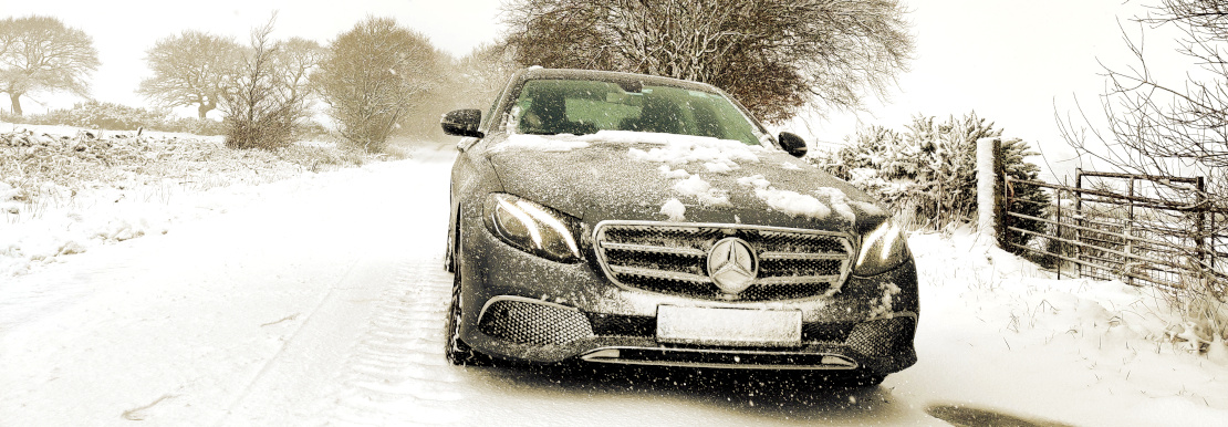 Picture of E220d in the snow