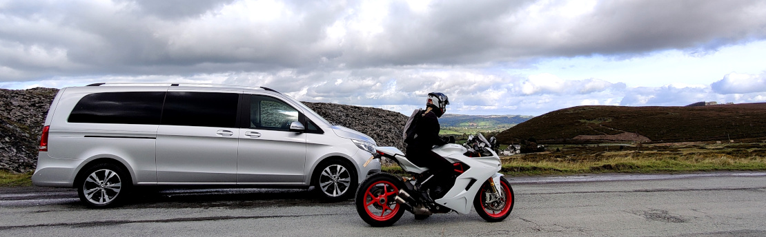 Ducati Supersport S with Mercedes V Class