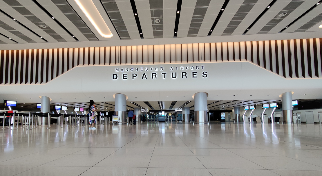 Image of Manchester Airport Departures Hall