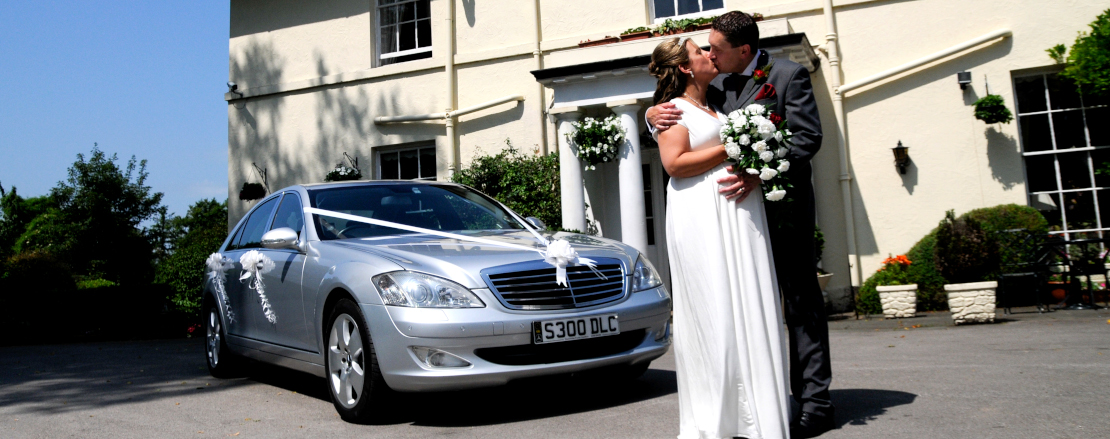 Silver Mercedes Wedding Car