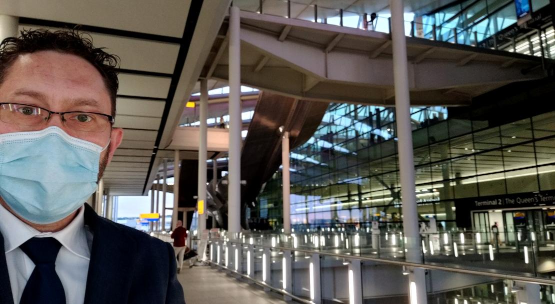 Ray at London Heathrow Airport T2