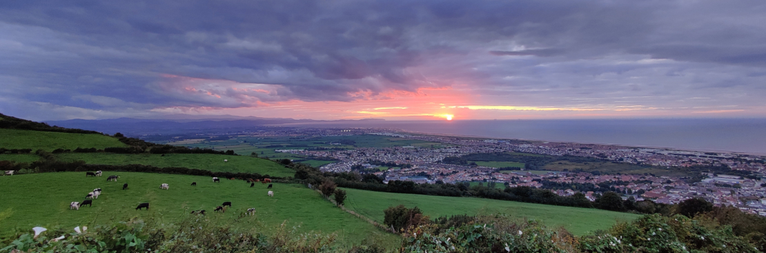 Picture of sunset over the sea from Gwaenysgor in North Wales