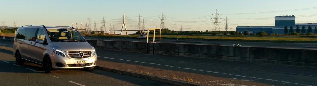Pic of V250d in front of Flintshire Bridge