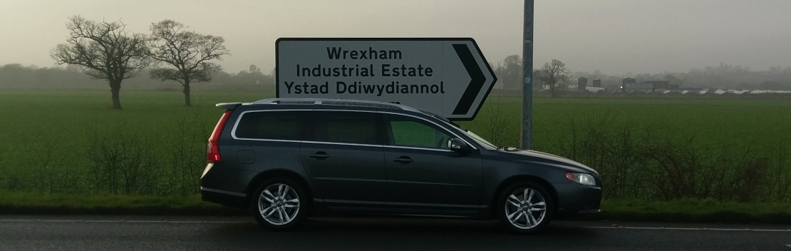 V70 on Wrexham Industrial Estate